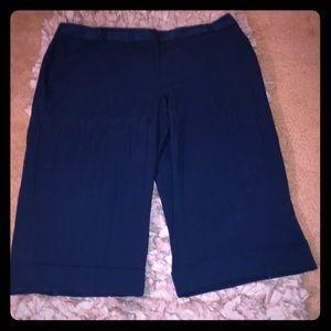 Lane Bryant Royal Blue Sz 26 Culotte Pants